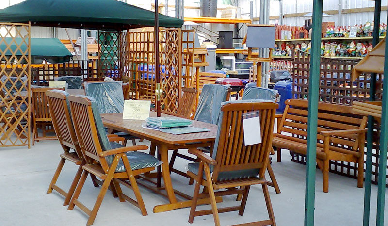 Outdoor furniture at waterways garden center