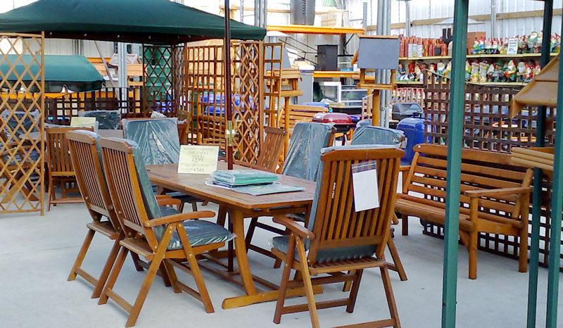 Outdoor furniture at waterways garden center