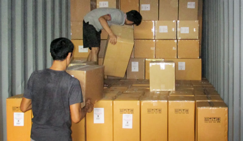 WID products being loaded into a container for shipping