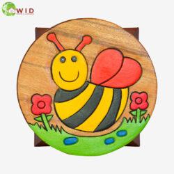 children's wooden stool Bee uk