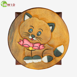 children's wooden stool cat uk