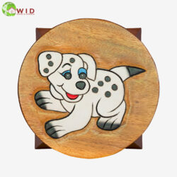 children's wooden stool dalmation uk
