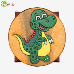 children's wooden stool funny dinosaur uk