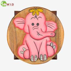 children's wooden stool Pink elephant uk