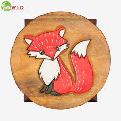 children's wooden stool fox uk