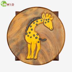 children's wooden stool Giraffe uk