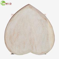 children's wooden stool heart uk