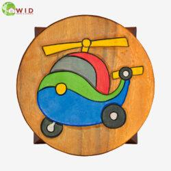 children's wooden stool helicopter uk