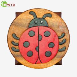 children's wooden stool ladybird uk