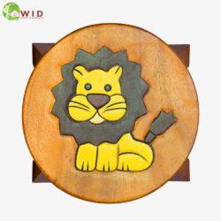children's wooden stool lion uk