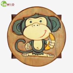 children's wooden stool monkey uk