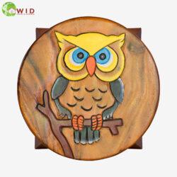 children's wooden stool owl uk