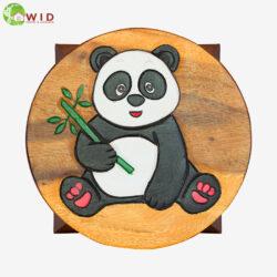 children's wooden stool Panda uk