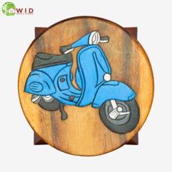 children's wooden stool blue vespa uk