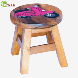 children's wooden stool pink vespa uk