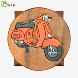 children's wooden stool orange vespa uk