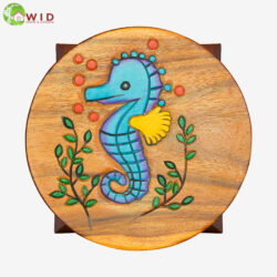 children's wooden stool sea horse uk