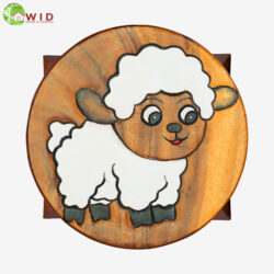 children's wooden stool comic sheep uk