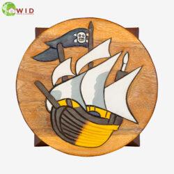 children's wooden stool pirate ship uk