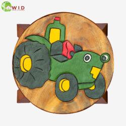 children's wooden stool Tractor uk