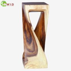 large wooden twist stool