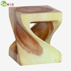 Small wooden twist stool