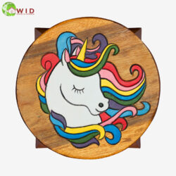 children's wooden stool unicorn uk