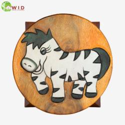 children's wooden stool zebra uk
