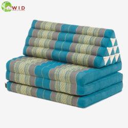 3 fold yoga mat double light blue UK