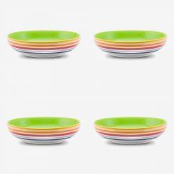 Rainbow Pasta Bowl 21 cms x 4 pack.