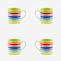 Rainbow mug 8oz pack x 4