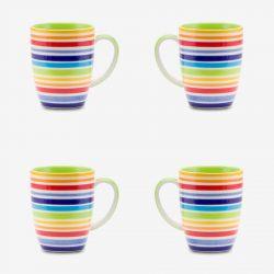 Rainbow mug 10oz set of 4