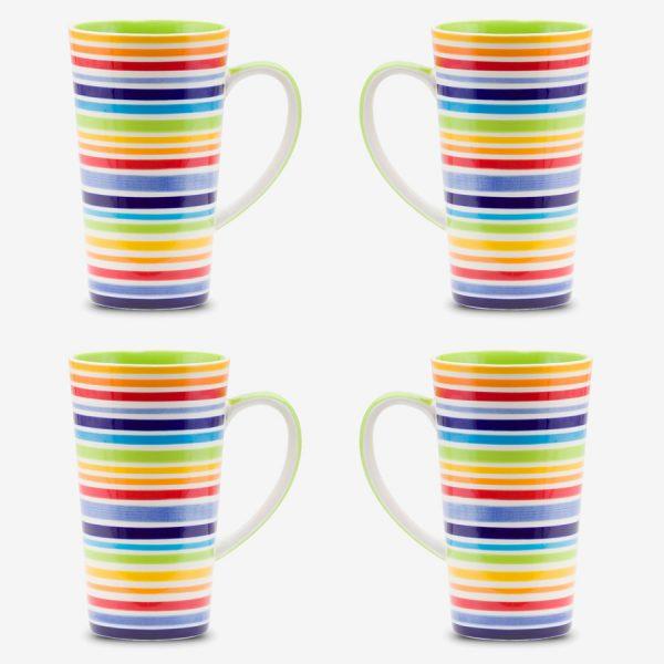 Rainbow Mug 17oz x 4