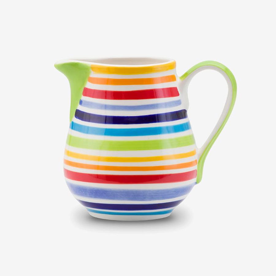 Rainbow milk jug