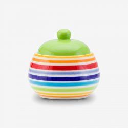 Rainbow sugar bowl
