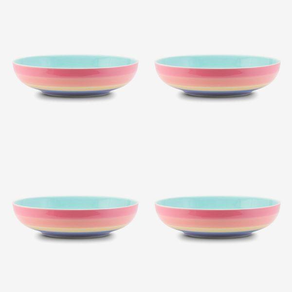Rainbow large Bowl Pastel x 4