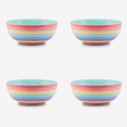 Rainbow Bowl Pastel x 4