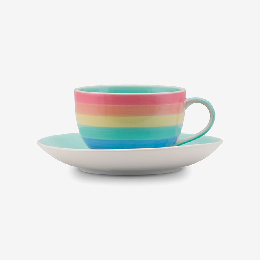 Rainbow small cup saucer