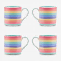 Rainbow mug 8oz Pastel x 4