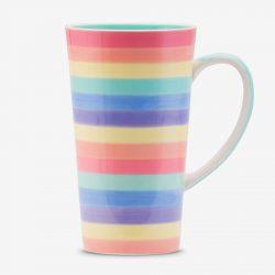 Rainbow mug 17 oz Pastel