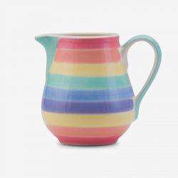 Rainbow milk jug Pastel