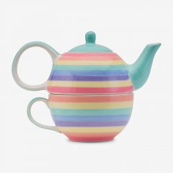 Rainbow teapot for one Pastel