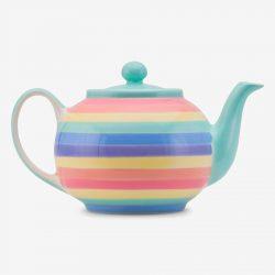 Rainbow teapot Pastel large