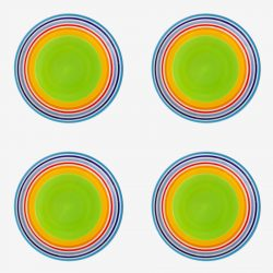 Rainbow Side plate x 4