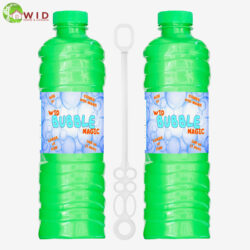 2 pack 1 ltr bubble solution bottle with wand