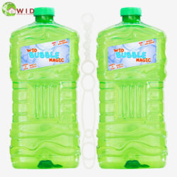 2 pack 3 ltr bubble solution bottle with wand
