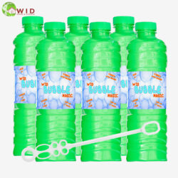 6 x 1 ltr bubble solution bottle with wand