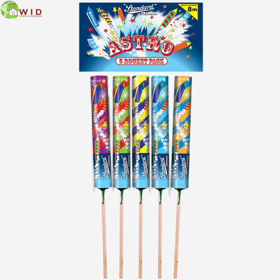 Fireworks Astro rocket pack x 5 UK