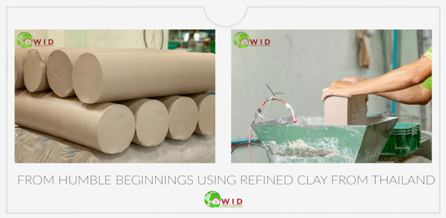 Quality clay from north Thailand. Exclusive Rainbow Ceramics. UK