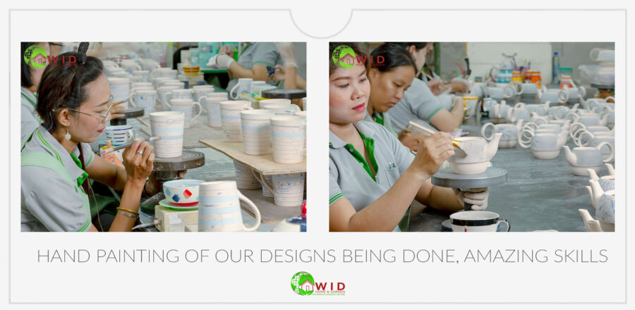 Hand painted ceramics from WID. uk